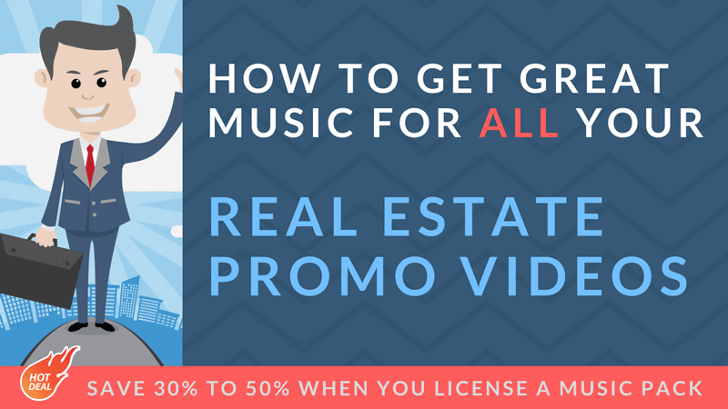 get music for real estate video and save