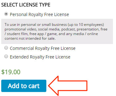 how to license music screenshot 1