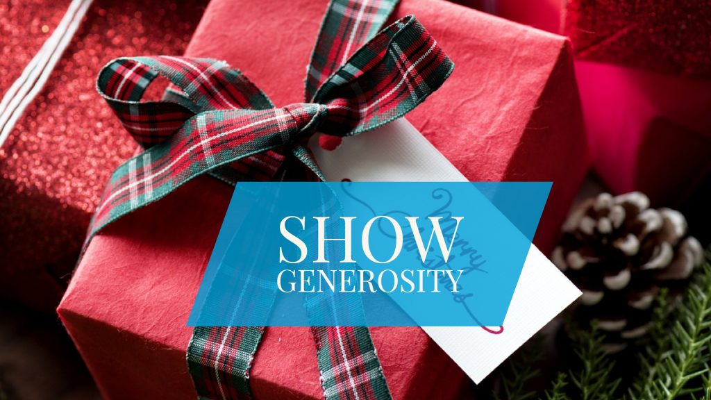 show christmas generosity corporate video